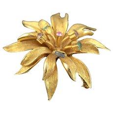 Vintage Gold Colored BSK Broach