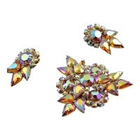 Magnificent Juliana Sparkly Brooch & Earrings