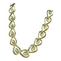KJL Gold Colored Necklace With White Pearls Necklace