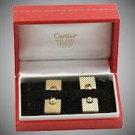 Vintage Cartier Solid Gold Cuff Links