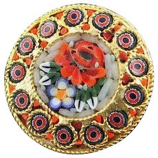 Beautiful Vintage Micro Mosaic Brooch