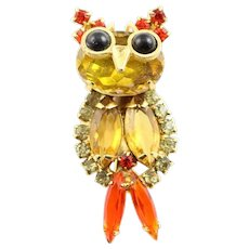 Darling Little Juliana Owl Brooch