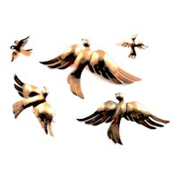 Complete Set Of Sterling Birds In Flight