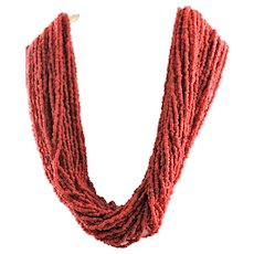 Forty Five Strand Of Natural Coral Necklace