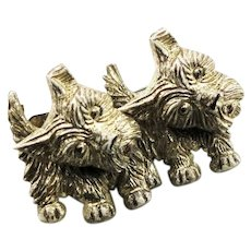 Scottie Dogs Molded Plastic Pin
