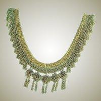 Antique Fine Mesh & Chain Necklace