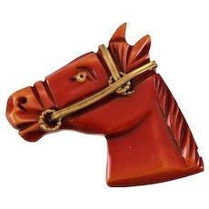 Iconic Bakelite Horse Head Brooch