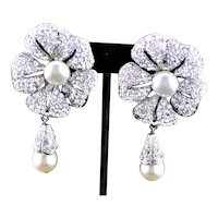 Spectacular Unmarked Designer Earrings