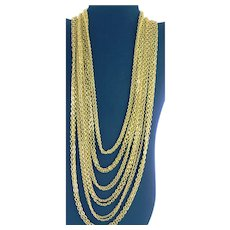 Ten Strand Gold Colored Chain Long Necklace