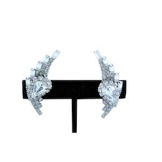 Unsigned Clear Rhinestone Juliana Earrings