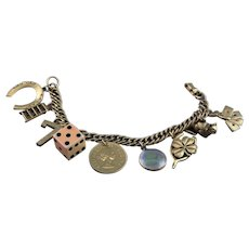 "Rare Marked Coro ""Lucky Charm"" Bracelet"
