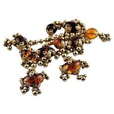 Rare Napier Charm Bracelet & Earrings
