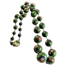 Antique Chinese Cloisonne Graduated Necklace