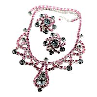 Beautiful Pink & Light Green Rhinestone Set
