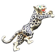 Marked Jomaz Leaping Leopard Brooch
