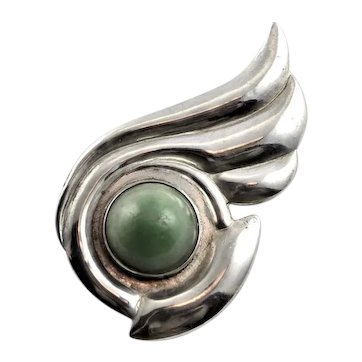 Artisan Made Marked Mexico Sterling Brooch