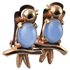 Jelly Belly Bird Clip Earrings