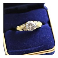 Large Carat CZ Sterling Wedding Ring