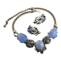 Blue Lucite Signed By Design Har Set