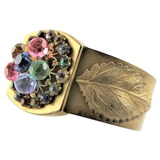 Antique Brass & Jewels Bracelet