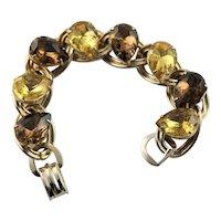 Mid Century Large Rhinestone Bracelet