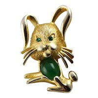 Green Jelly Belly Bunny Pin
