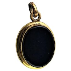 Victorian Black Onyx & Gold Locket
