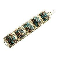 1950's Lucite Confetti Tile Bracelet