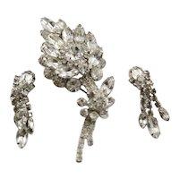 Fabulous Clear Crystal Juliana Large Brooch & Earrings