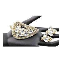 Beautiful Rhinestone & Earrings With Aurora Borealis Set