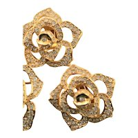 Elizabeth Taylor Pave Rose Collection Earrings