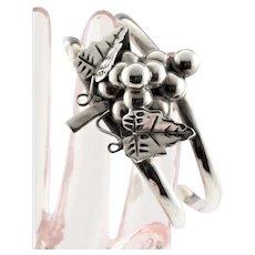 Sterling Grape Marked TS-E Mexico Bracelet