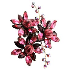 Marked By Design Beaujewels Pink & Red Brooch