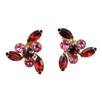 Marked By Style Beaujewels Pink & Red Earrings