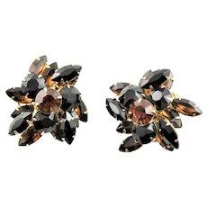 Judy Lee Three Dimensional Clip Earrings