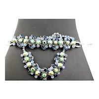 Juliana Necklace & Bracelet Blue Set