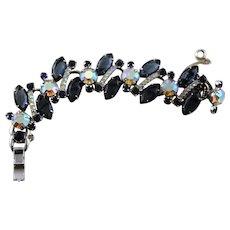 Spectacular Blue Rhinestone Juliana D&E Bracelet