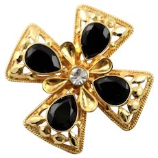 Marked St. John Maltese Cross Brooch