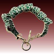 Spectacular Kenneth Jay Lane Gator Green Bracelet
