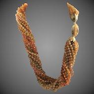 Vintage 1950's-60's Coro Twenty Strand Plastic Necklace