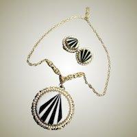 Wonderful Vintage W. Germany Art Deco Style Necklace & Earrings Set