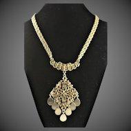 Vintage 1960's Gold Colored Pendant Necklace