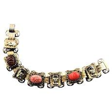 Older Scarab Link Bracelet
