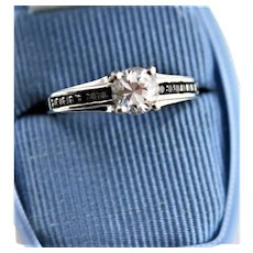 One Caret Synthetic Sterling Engagement Ring