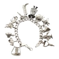 Thirteen Western Themed Charm Bracelet