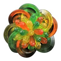 Fruity Colors Lucite 1950's Brooch