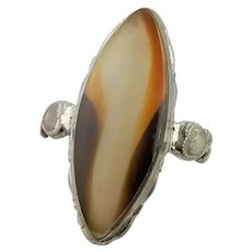 Antique Agate & Sterling Ring
