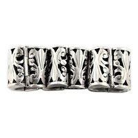 Fabulous Sterling Overlay Marked Bracelet