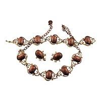 Set Of Confetti Lucite Cabochon Jewelry