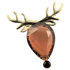 Outstanding Reindeer Head Christmas Pin
